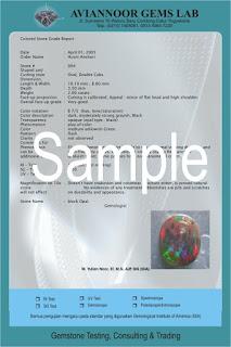 Contoh sertifikat dari Aviannoor Gemslab (1)