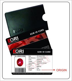 Contoh sertifikat dari GRI Lab