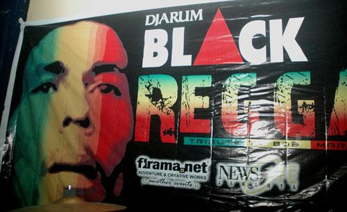 Banner Acara Tribute To Bob Marley 13 Desember 2006